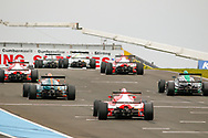 Drivers await the start of the FIA Formula 4 British Championship at Knockhill Racing Circuit, Dunfermline, Scotland on 15 September 2019.