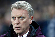 West Ham United Manager David Moyes looks on.  Premier league match, Tottenham Hotspur v West Ham United at Wembley Stadium in London on Thursday  4th January 2018.<br /> pic by Steffan Bowen, Andrew Orchard sports photography.