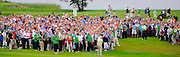 All eyes on Padraig harrington's ball as he plays his second shot to the 17th hole in the 3 Irish Open golf tournament at Killarney on Sunday..Picture by Don MacMonagle