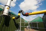 Nederland, Witteveen, 29 aug 2008.Bio-vergistingsinstallatie bij boer in Drenthe die ook energieleverancier is. In de vergister gaat ook mest en gras en andere gewassen waarmee energie op te wekken is...Bij fam Bouwhuis..Foto (c) Michiel Wijnbergh