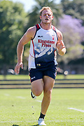 Thomas Burgess during a very tough training session in hot conditions. England Rugby League Team training at Redfern Oval, Sydney, Australia. 30 October 2017. Copyright Image: David Neilson / www.photosport.nz