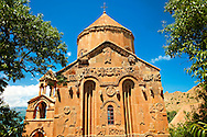 10th century Armenian Orthodox Cathedral of the Holy Cross on Akdamar Island, Lake Van Turkey 58 .<br /> <br /> If you prefer to buy from our ALAMY PHOTO LIBRARY  Collection visit : https://www.alamy.com/portfolio/paul-williams-funkystock/lakevanturkey.html<br /> <br /> Visit our TURKEY PHOTO COLLECTIONS for more photos to download or buy as wall art prints https://funkystock.photoshelter.com/gallery-collection/3f-Pictures-of-Turkey-Turkey-Photos-Images-Fotos/C0000U.hJWkZxAbg