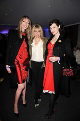 Left to right, JADE PARFIT, JO WOOD and JASMINE GUINNESS at a party to celebrate the Mulberry Autumn Winter 2010 collection held at The Orangery, Kensington Palace, London on 21st February 2010.