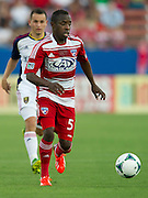 FRISCO, TX - JULY 13:  Jair Benitez #5 of FC Dallas chases down the ball against Real Salt Lake on July 13, 2013 at FC Dallas Stadium in Frisco, Texas.  (Photo by Cooper Neill/Getty Images) *** Local Caption *** Jair Benitez