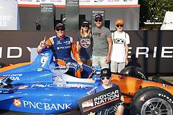 July 15, 2018 - Toronto, Ontario, Canada - SCOTT DIXON (9) of New Zealand wins the Honda Indy Toronto at Streets of Toronto in Toronto, Ontario. (Credit Image: © Justin R. Noe Asp Inc/ASP via ZUMA Wire)
