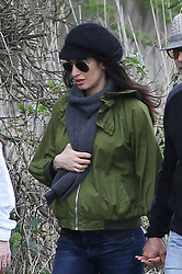 EXCLUSIVE ALL ROUNDER ***MINIMUM FEE £250 PER PICTURE APPLIES***  <br /> It has been confirmed today that George Clooney and wife Amal Clooney have welcomed their twins, Ella and Alexander.<br /> <br /> Pictures show:<br /> George and a pregnant Amal Clooney took and country walk with a few friends  by the banks of the river Thames in Berkshire. Amal's baby bump could be seen even though she wore a loose fitting jacket<br /> <br /> 31 March 2017.<br /> <br /> Please byline: Vantagenews.com