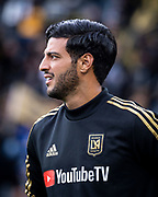 LAFC forward Carlos Vela (10) before a MLS soccer match in against the Sporting KC Los Angeles, Sunday, March 3, 2019. LAFC defeated Sporting KC, 2-1. (Ed Ruvalcaba/Image of Sport)