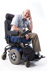 Portrait of a male wheelchair user,