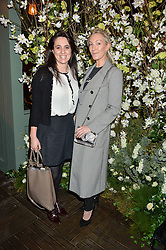 Left to right, CLAIRE BLACKSHAW and OLIVIA BUCKINGHAM at The Ivy Kensington Brasserie International Women's Day & Terrace Launch Party held at The Ivy Kensington Brasserie, 96 Kensington High Street, London on 8th March 2016.