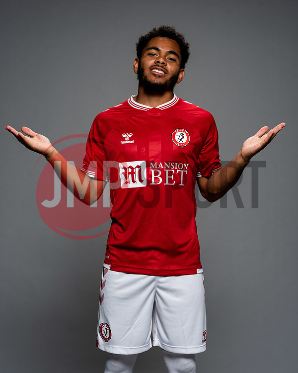 Jay Dasilva as Bristol City release their Home Shirt ahead of the 2020/21 Sky Bet Championship Season season - Rogan/JMP - 31/08/2020 - Ashton Gate Stadium - Bristol, England - Sky Bet Championship.