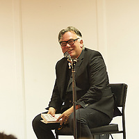 Stewart Lee<br /> On stage at the Stoke Newington Literary Festival. 8 June 2014<br /> <br /> Picture by David X Green/Writer Pictures