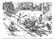 Now that motors are sweeping the children off the roads, the railway tracks remain their only avaliable playground. At least you know where you are with a train