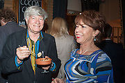GEOFFREY ROBERTSON; KATHY LETTE, The press night performance of the Menier Chocolate Factory's 'Merrily We Roll Along', following its transfer to the Harold Pinter Theatre, After-show party at Grace Restaurant, Gt. Windmill St. London. 1 May 2013.