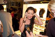 RACHEL ANTHONY; , Wolf & Badger - pop-up store launch party. Wonder Room, Selfridges, 13 August 2010. -DO NOT ARCHIVE-© Copyright Photograph by Dafydd Jones. 248 Clapham Rd. London SW9 0PZ. Tel 0207 820 0771. www.dafjones.com.