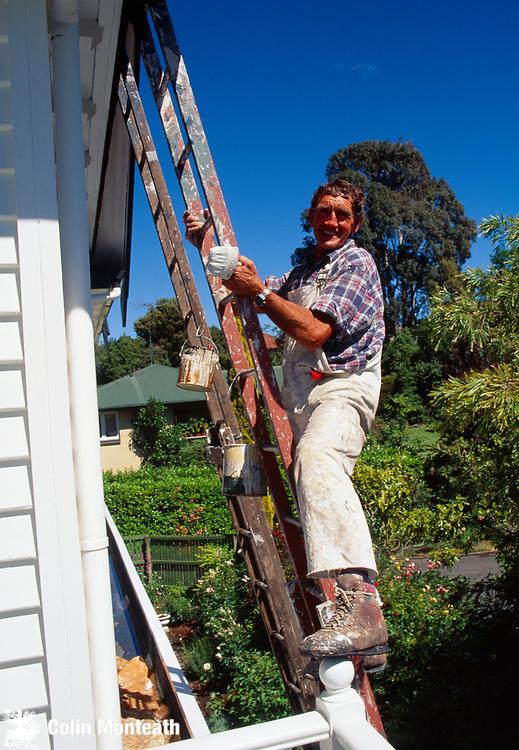 Mountaineer & painter John Visser on North Wall Hedgehog House