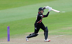 Somerset's Tom Cooper cuts the ball - Photo mandatory by-line: Harry Trump/JMP - Mobile: 07966 386802 - 29/07/15 - SPORT - CRICKET - Somerset v Durham - Royal London One Day Cup - The County Ground, Taunton, England.