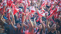 Neto Fagundes canta o hino Rio-grandense no Palco Planeta  na abertura da 22ª edição do Planeta Atlântida. O maior festival de música do Sul do Brasil ocorre nos dias 3 e 4 de fevereiro, na SABA, na praia de Atlântida, no Litoral Norte gaúcho.  Foto: Jefferson Bernardes / Agência Preview