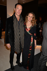 Petroc Sesti and Emilie Pugh at the 2017 PAD Collector's Preview, Berkeley Square, London, England. 02 October 2017.