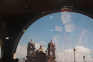 """The Plaza de Armas of Cusco today is the hub of international tourism in the area, fashion boutiques in the Andean style are one of the many business flourished thanks to the proximity of Macchu Picchu and the beauty of the city """"ombligo del mundo."""""""