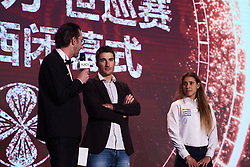 Giani Muscon discusses winning Tour of Guangxi at The UCI Cycling Gala 2018 in Guilin, China on October 21, 2018. Photo by Sean Robinson/velofocus.com