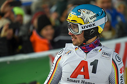 """29.01.2019, Planai, Schladming, AUT, FIS Weltcup Ski Alpin, Slalom, Herren, 2. Lauf, im Bild Felix Neureuther (GER) // reacts after his 2nd run of men's Slalom """"the Nightrace"""" of FIS ski alpine world cup at the Planai in Schladming, Austria on 2019/01/29. EXPA Pictures © 2019, PhotoCredit: EXPA/ Erich Spiess"""