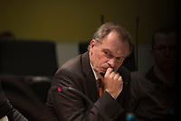 DEU, Deutschland, Germany, Berlin, 13.01.2016: Deutscher Bundestag, Kultur- u. Medienausschuss, Stefan Raue, Chefredakteur des Mitteldeutschen Rundfunks (MDR), bei einem öffentlichen Fachgespräch zu rechtspopulistischen Übergriffen auf Journalisten.