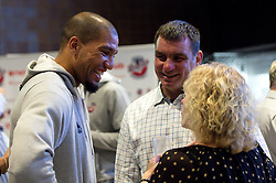Greg Streete of Bristol Flyers chats with guests - Mandatory by-line: Robbie Stephenson/JMP - 12/09/2016 - BASKETBALL - Ashton Gate Stadium - Bristol, England - Bristol Flyers Sponsors Event