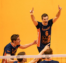 12-05-2019 NED: Abiant Lycurgus - Achterhoek Orion, Groningen<br /> Final Round 5 of 5 Eredivisie volleyball, Orion wins Dutch title after thriller against Lycurgus 3-2 / Peter Ogink #6 of Orion