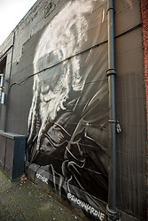 Pictured: Mural of Arthur Williams, well known gentleman of the road in Edinburgh<br />