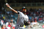 Alexei Ramirez #10 of the Chicago White Sox prepares before a game against the Minnesota Twins on September 16, 2012 at Target Field in Minneapolis, Minnesota.  The White Sox defeated the Twins 9 to 2.  Photo: Ben Krause