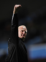 Iain Dowie Manager Celebrates towards the QPR fans after the final whistle<br /> Queens Park Rangers 2008/09<br /> Aston Villa V Queens Park Rangers (0-1) 24/09/08<br /> The Carling Cup 3rd Round<br /> Photo Robin Parker Fotosports International