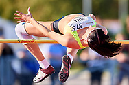 Poland, Radom - 2020 September 12: Roksana Poll (UKS Orkan Sroda Wlkp.) from Poland competes in women's high jump final while 74. PZLA Athletics Polish Championships U20 - Radom 2020 - Day#2 during pandemic COVID-19 at MOSiR Stadium on September 12, 2020 in Radom, Poland.<br /> <br /> Mandatory credit:<br /> Photo by © Adam Nurkiewicz<br /> <br /> <br /> Adam Nurkiewicz declares that he has no rights to the image of people at the photographs of his authorship.<br /> <br /> Picture also available in RAW (NEF) or TIFF format on special request.<br /> <br /> Any editorial, commercial or promotional use requires written permission from the author of image. Single publication only for informational, journalistic or documentary purposes inside a newspaper, magazine or book (digital versions allowed). One edition on the territory of one country. Resale is forbidden.<br /> <br /> Image can be used in the press when the method of use and the signature does not hurt people on the picture.