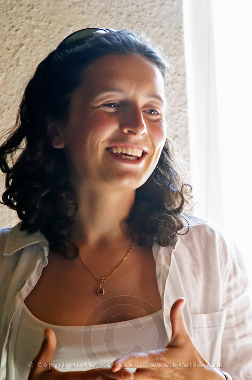 Sylvie Courcelle, daughter to Francis Courcelle, owner and winemaker  Chateau Thieuley La Sauve Majeure  Entre-deux-Mers  Bordeaux Gironde Aquitaine France