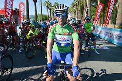 October 12, 2018 - Selcuk, Turkey - Ariel Maximiliano Richeze of Argentina and Team Quick Step Floors in Green Sprint Jersey ahead of the fourth stage - the Sportoto Stage 205.5km Marmaris - Selcuk, of the 54th Presidential Cycling Tour of Turkey 2018. .On Friday, October 12, 2018, in Selcuk, Turkey. (Credit Image: © Artur Widak/NurPhoto via ZUMA Press)