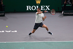 Grigor Dimitrov (BUL) during Day 3 of the Rolex Paris Masters held at the Accor Hotels Arena on November 1, 2017 in Paris, France. Photo by Yann Bohac/ANDBZ/ABACAPRESS.COM
