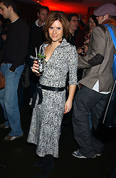 Radio presenter HARRIETT SCOTT  at the opening party for a new bowling alley All Star Lanes, at Victoria House, Bloomsbury Place, London on 19th January 2006.<br />