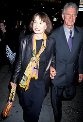 GLORIA VANDERBILT (February 20, 1924 - June 17, 2019) was an American artist, author, actress, fashion designer, heiress, and socialite. She was a member of the Vanderbilt family of New York and the mother of CNN television anchor Anderson Cooper. The subject of a high-profile child custody trial in the 1930s, she later became known in connection with a line of fashions, including an early version of ''designer'' blue jeans. PICTURED: June 9, 1998, New York, New York, USA: GLORIA VANDERBILT and PETER ROGERS at the opening of 'Dinah Was', at the Gramercy Theater. (Credit Image: © Henry McGee/ZUMAPRESS.com)