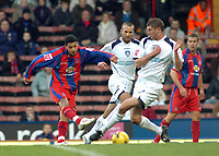 Photo: Kevin Poolman.<br />Crystal Palace v Colchester United. Coca Cola Championship. 09/12/2006. Jobi McAnuff for Palace gets a shot in on goal.