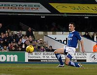 Photo: Ashley Pickering.<br />Ipswich Town v Birmingham City. Coca Cola Championship. 01/01/2007.<br />Gavin Williams strikes home the winning goal for Ipswich