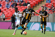 Morpeth Town Keith Graydon on the ball during the FA Vase match between Hereford FC  and Morpeth Town at Wembley Stadium, London, England on 22 May 2016. Photo by Dennis Goodwin.
