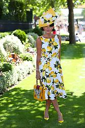 Milliner Ilda Di Vico arriving for day three of Royal Ascot at Ascot Racecourse.