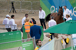 Guerdat Steve, SUI, Nino Des Buissonnets<br /> Horse Inspection<br /> Olympic Games Rio 2016<br /> © Hippo Foto - Dirk Caremans<br /> 12/08/16