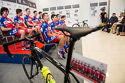 Team during press conference and presentation of cycling club KK Adria Mobil for season 2016, on March 3, 2016 in Novo mesto, Slovenia. Photo by Vid Ponikvar / Sportida