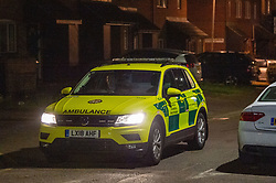 © Licensed to London News Pictures. 18/05/2020. London, UK. A ambulance departs the crime scene on Wiltshire Gardens. Police were called at 20:22BST to reports of shots fired in Wiltshire Gardens, N4. Metropolitan Police Service attended along with London Ambulance Service and found a man, believed to be aged in his 20s, suffering gunshot injuries. The man was pronounced dead at the scene. Photo credit: Peter Manning/LNP