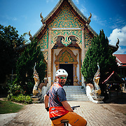Jay Goodrich checks out a temple in the jungle near Chiang Mai, Thailand.