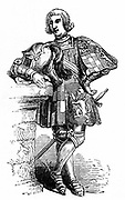 John Howard, first Duke of Norfolk (c1430-1485), known as Jack of Norfolk. English soldier and nobleman: Earl Marshal of England. Killed at Battle of Bosworth. Wood engraving c1850.