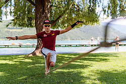 22.05.2017, Kalterer See, Kaltern, ITA, OESV, Nordische Kombinierer, Trainingskurs Kaltern, im Bild David Pommer // during a Trainingscamp of Austrian Nordic Combined Team at the Kalterer Lake, Kaltern, Italy on 2017/05/22. EXPA Pictures © 2017, PhotoCredit: EXPA/ JFK