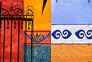MEXICO, COLONIAL CITIES San Miguel de Allende; colonial city with many gringo residents; painted wall decorations
