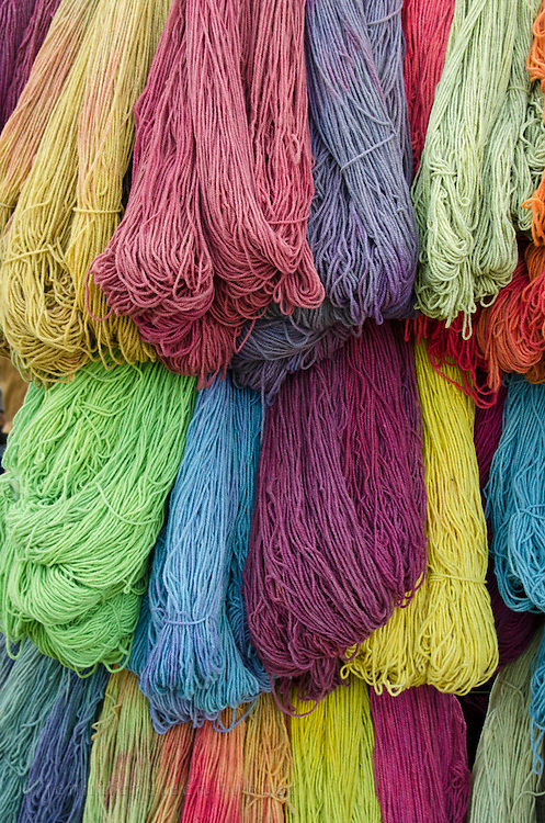 Hand-spun yarn for sale at the Common Ground Fair, Unity, Maine.