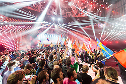 22.05.2015, Stadthalle, Wien, AUT, Eurovision Songcontest Vienna 2015, Kostümprobe für das Große Finale, im Bild Übersicht // Overview during dress rehearsal of the grand final for Eurivision Songcontest Vienna 2015 at Stadthalle in Vienna, Austria on 2015/05/22, EXPA Pictures © 2015, PhotoCredit: EXPA/ Michael Gruber